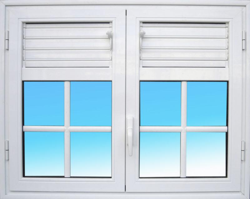 Fenêtre ouvrante en aluminium OF24 lames ventilantes aluminium MG ALUMINIUM