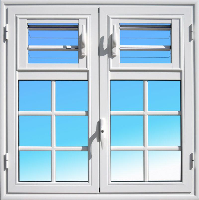 Fenêtre aluminium ouvrante OF26 gamme Cayenne MG ALUMINIUM avec jalousies lames de verre.