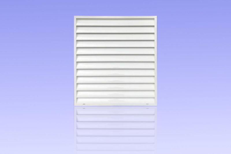 Brise vue en aluminium laqué blanc muni de lames biconvexes MG ALUMINIUM