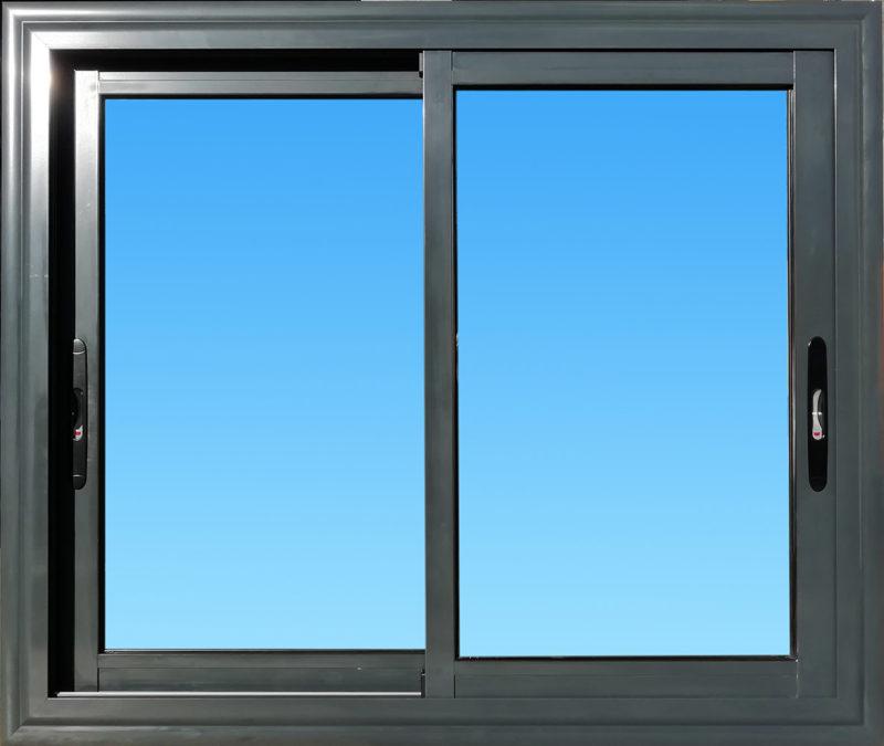Fenêtre coulissante CF21-ANTHRACITE aluminium 2 vantaux Gamme Vision MG ALUMINIUM