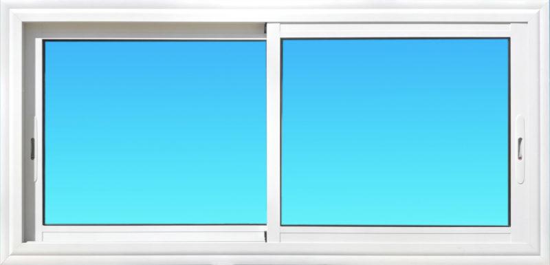 Fenêtre coulissante CF21-PANORAMIQUE aluminium 2 vantaux Gamme Vision MG ALUMINIUM