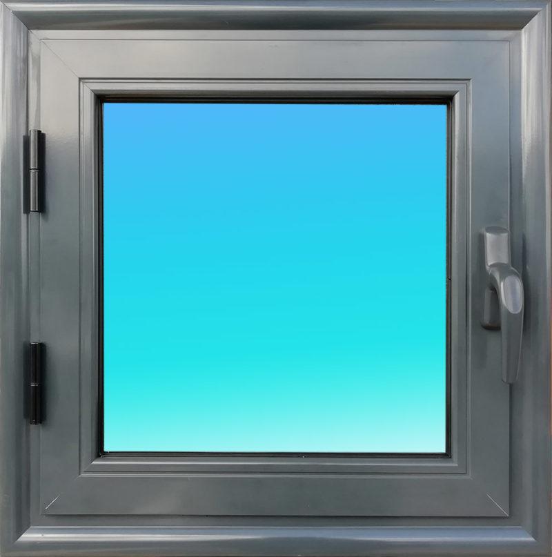 Fenêtre ouvrante aluminium OF11-ANTHRACITE 1 vantail vitrage clair 6 mm. MG ALUMINIUM