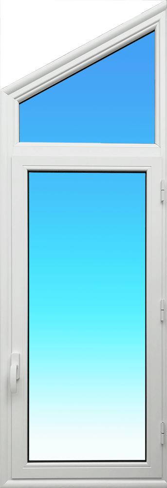 Trapèze OF11-IS en aluminium laqué blanc muni d'une fenêtre MG ALUMINIUM.