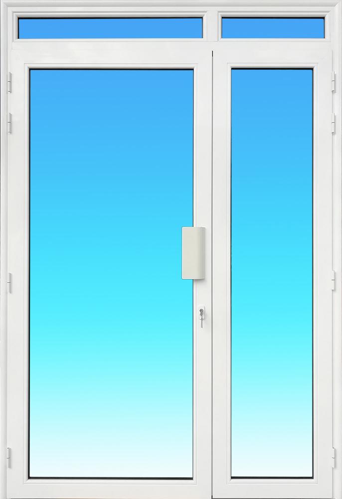 Porte PE21-IMPOSTE 2 vantaux aluminium avec imposte MG ALUMINIUM.