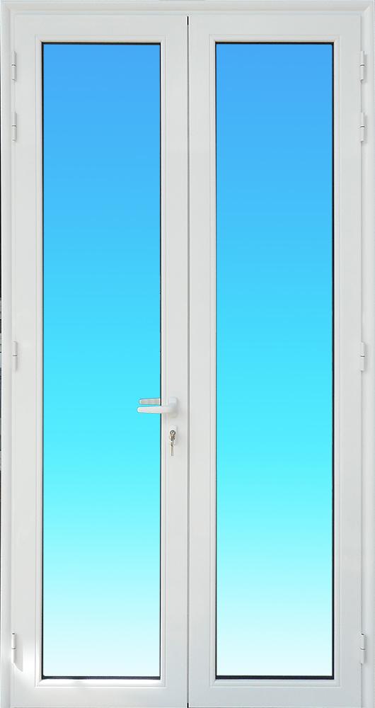 Porte PE21-IMPOSTE 2 vantaux aluminium avec imposte MG ALUMINIUM