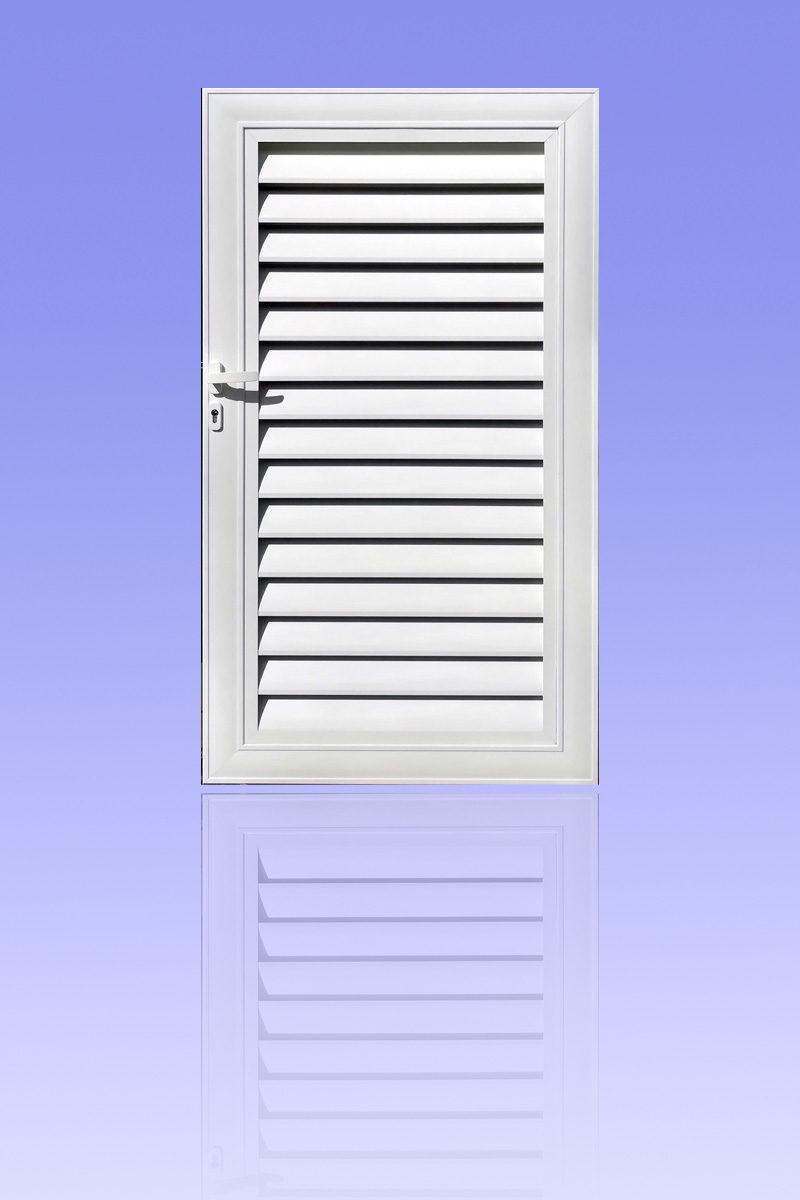 Portillon brise-vue ZÉPHYR en aluminium laqué blanc ABD FERMETURES