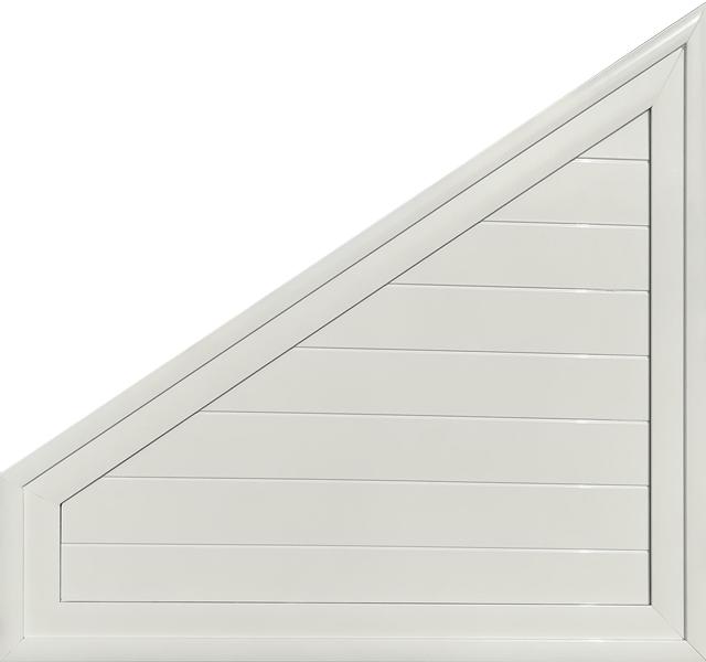 Trapèze en aluminium laqué blanc remplissage lames aluminium MG ALUMINIUM
